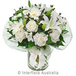 Bianca - Elegant Bouquet in a Glass Vase