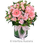 La Dolce Vita - Mixed Pastel Posy in a Glass Vase
