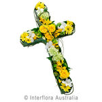 Remembrance - Yellow Large Modern Cross