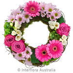 Contemplation - Pink Cluster Wreath