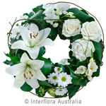 Comforting Embrace - White Mixed Floral Wreath