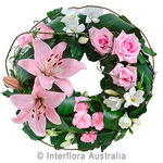 Comforting Embrace - Pink Mixed Floral Wreath