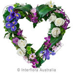 Esteem - Blue, Purple and White Modern Sympathy Heart