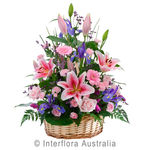 Abundance - Lavish Mixed Flower Basket