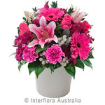 Berry Delight - Bright Mixed Arrangement in a Ceramic Pot