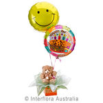 Birthday Surprise - Teddy Bear with Helium Balloons