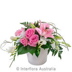 Blush - Mixed Arrangement in a Ceramic Container