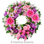 Eternity - Pink Cluster Wreath