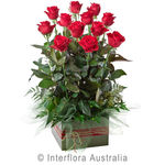 Now And Forever  - Box Arrangement of 12 Long Stemmed Roses