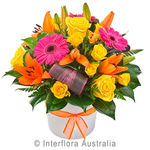 Viva - Bright Mixed Arrangement in a Ceramic Container